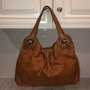 Michael Kors Leather Drawstring Shoulder Bag